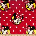 Disney Minky Minnie Mouse Badge Toss Red