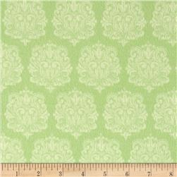 Precious Baby Flannel Damask Green Fabric