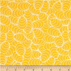 Jenean Morrison Lovelorn Ovals Yellow Fabric