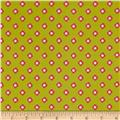 Riley Blake Acorn Valley Flannel Bloom Dot Citron