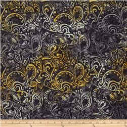 Timeless Treasures Tonga Batik Honeybee Paisley Spell