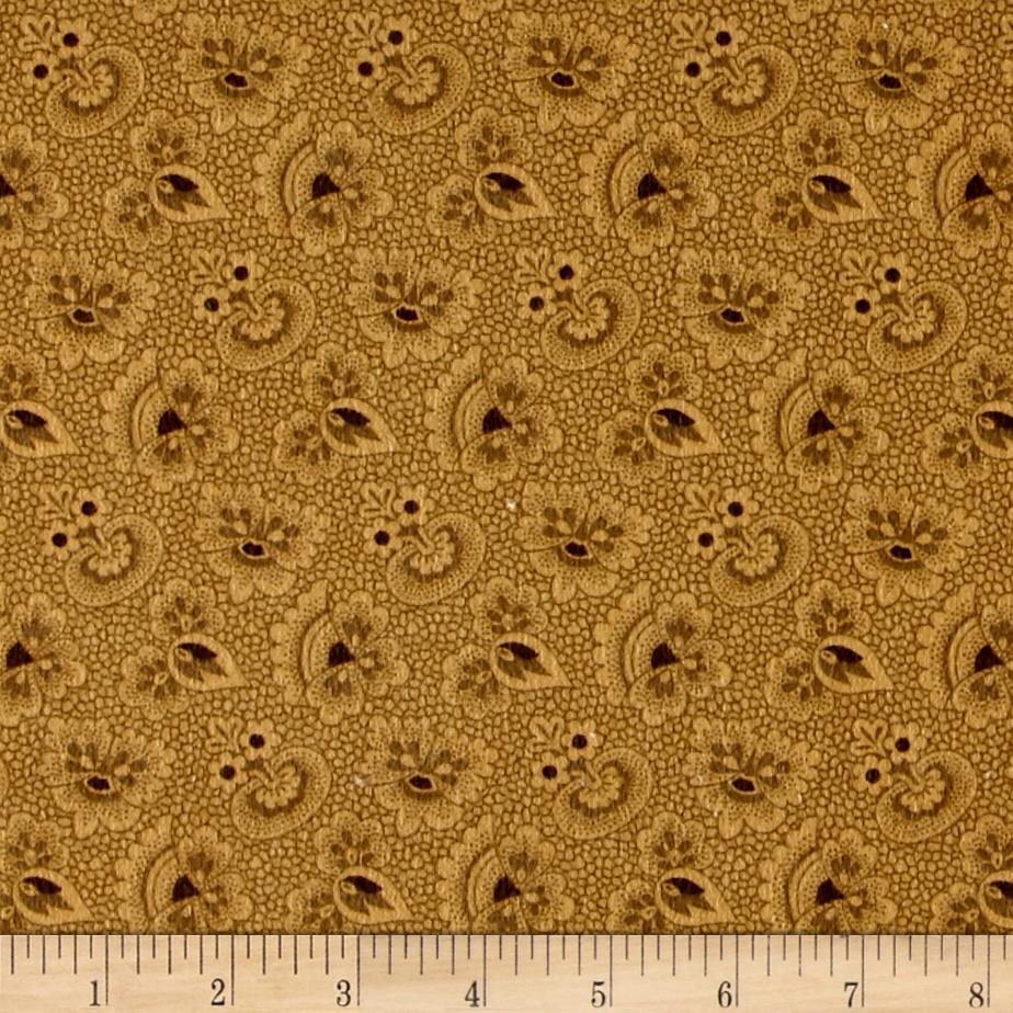 Cozies Flannel Foulard Gold Fabric