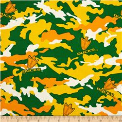 University of Oregon Cotton Camouflage Green/Yellow