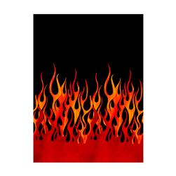 Michael Miller Flames Single Border Black