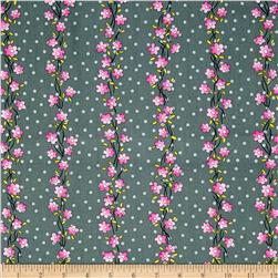 Daisy Mae Serenade Stripe Graphite Fabric