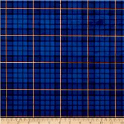 Michael Miller Minky Nutcracker Plaid Royal