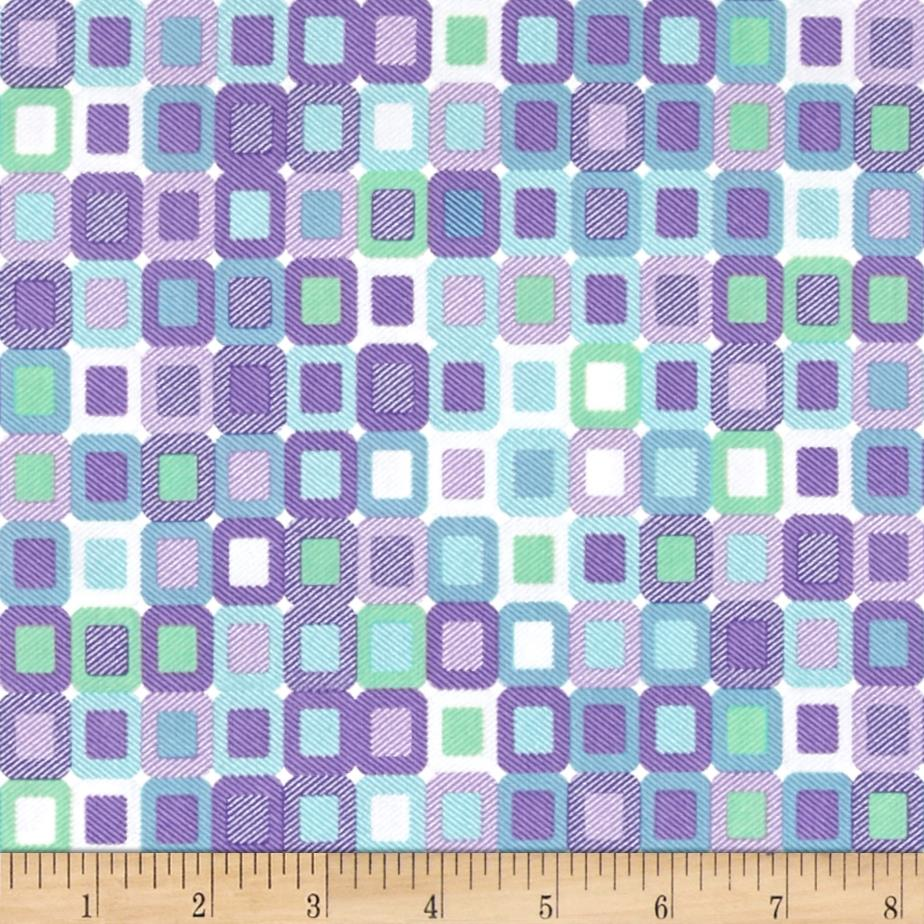 Piccadilly Mini Boxes Purple/Teal Fabric