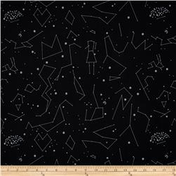 Natural History Constellations Silver on Black