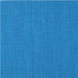 European 100% Washed Linen Cornflower