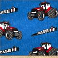 CASE IH Kids Fleece Allover Denim Blue