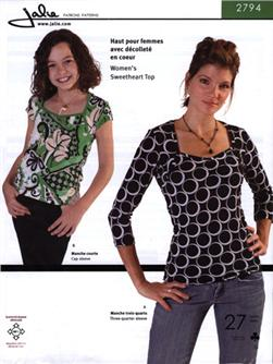 Jalie Sweetheart Top Pattern