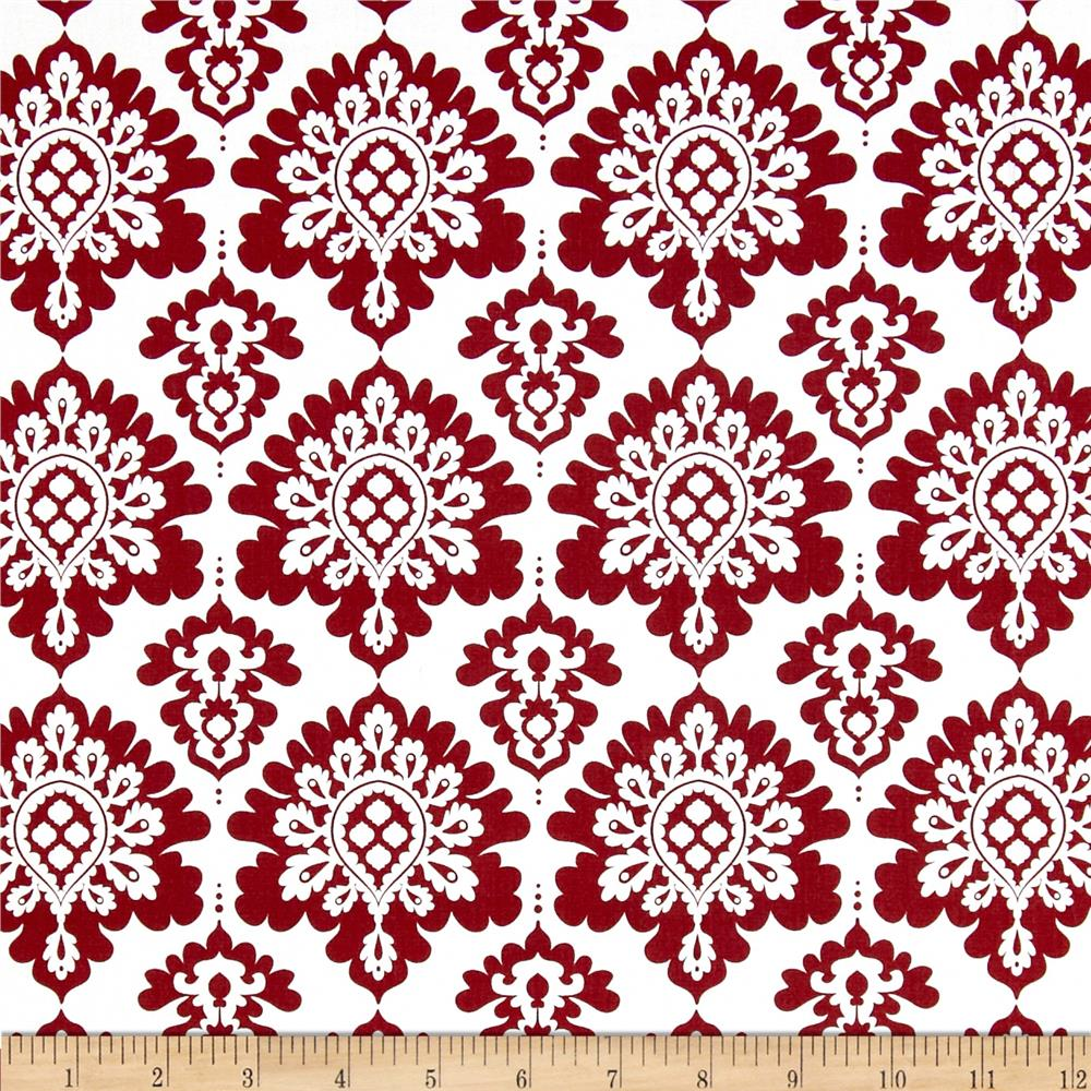 Riley Blake Lost & Found Christmas Damask Red