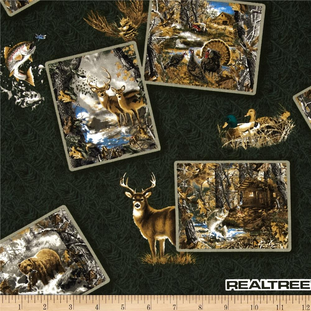 Realtree Postcards Animals Logos Green