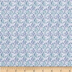 Stonewall Bloom Small Toss Bloom White Fabric