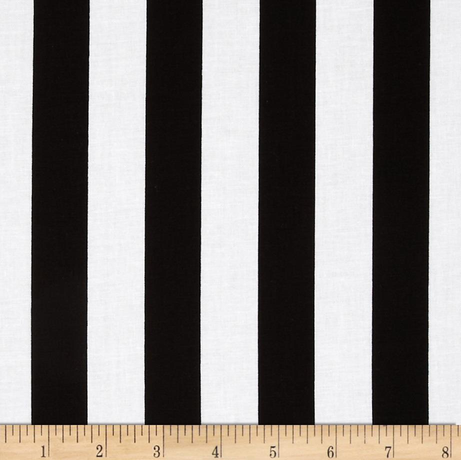 "Riley Blake 1"" Stripe Black"