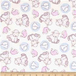 Lullaby Sheep Sleep Flannel Cream/Pink