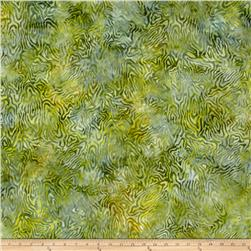 Batavian Batiks Rippled Reflections Green