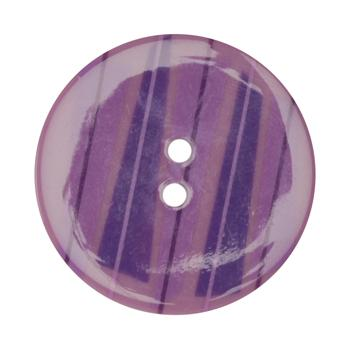 Fashion Button 1-3/8'' Confetti Triangles Purple