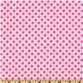 Flannel Polka Dots Pink
