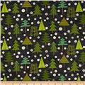 Evergreen Trees Black