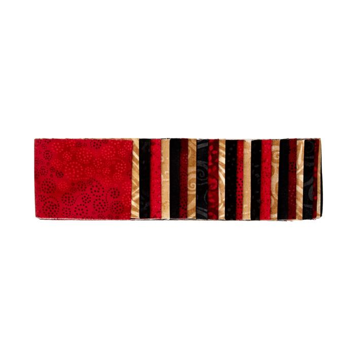 "#1 Fan Essential Gems 2.5"" Strips Red/Gold/Black"