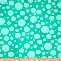 "110"" Wide Quilt Back Bubbles Aqua"