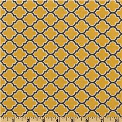 Aviary 2 Lodge Lattice Vintage Yellow Fabric