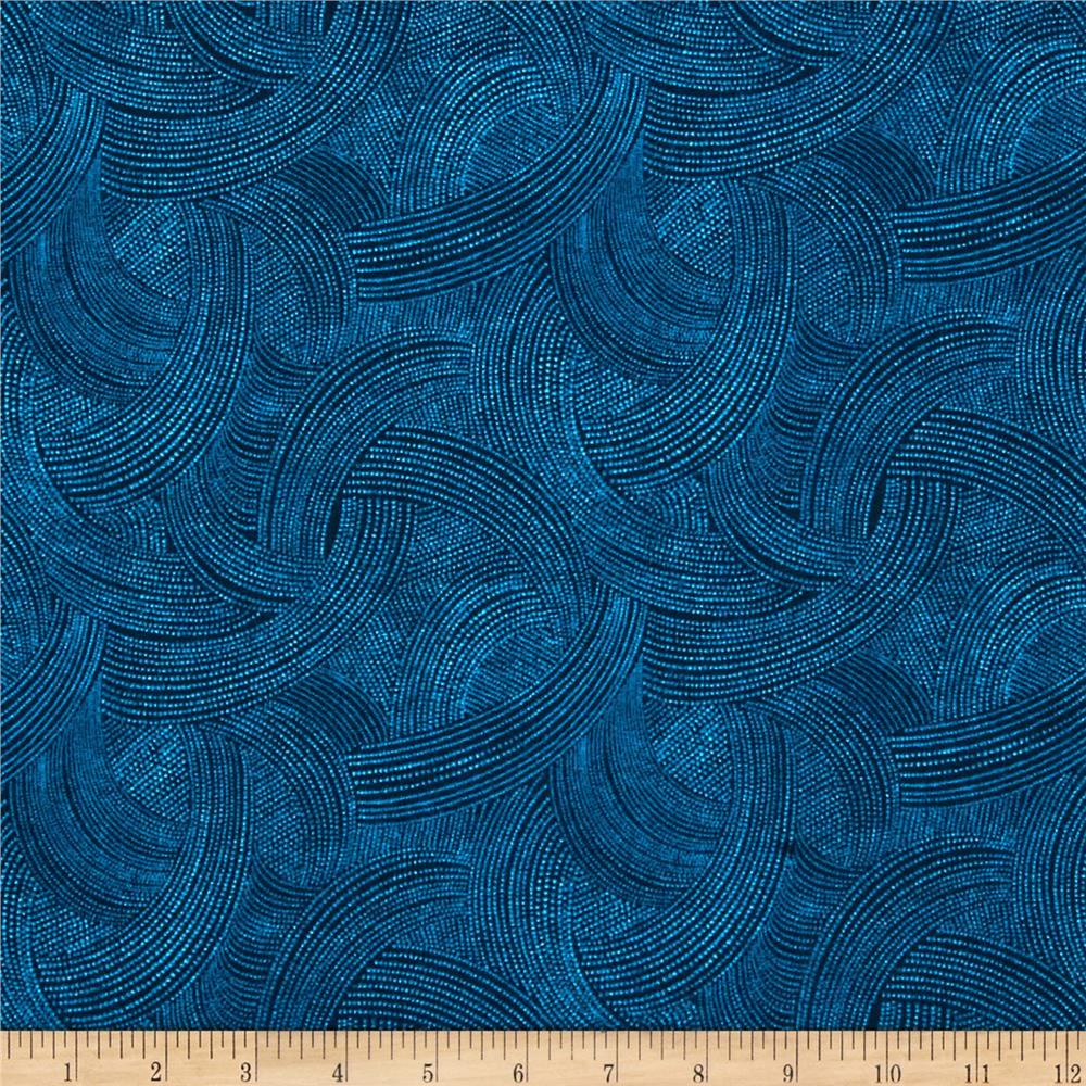 Fernwood Wave Dots Blue