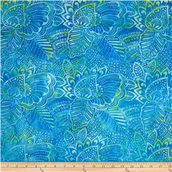 Batavian Batiks Fronds Fresh Blue/Green