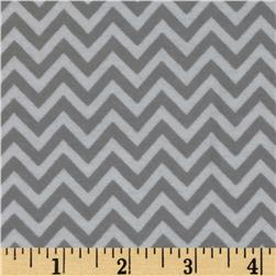 Dreamland Flannel Chic Chevron Jasper Grey Fabric