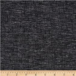 Cotton Linen Yarn Dyed Black
