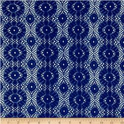 Crochet Lace Medallion Royal Blue