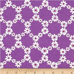 Michael Miller Happy Tones Jemma Floral Lattice Purple