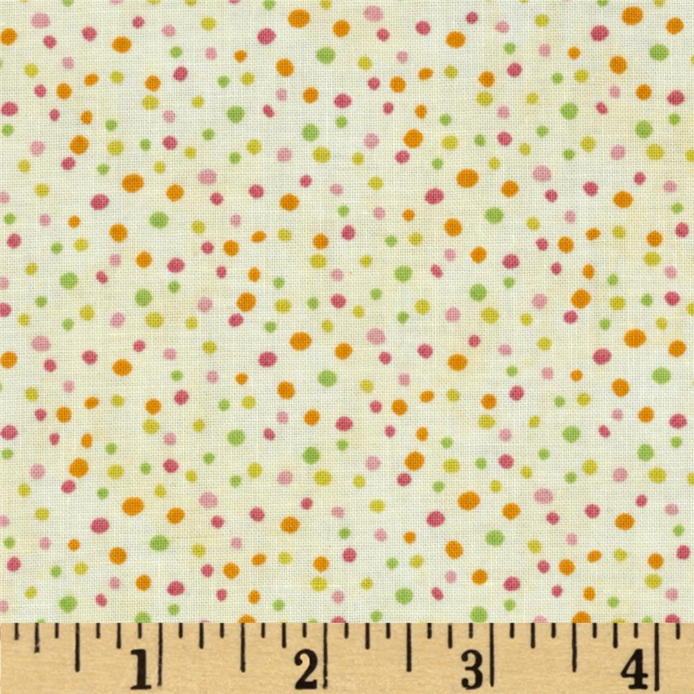 Essentials Petite Dots Ivory/Multi Pink