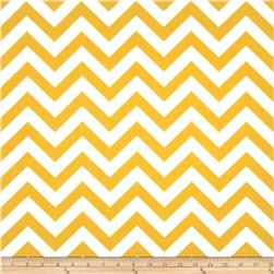 Premier Prints Zig Zag Slub Yellow/White Fabric