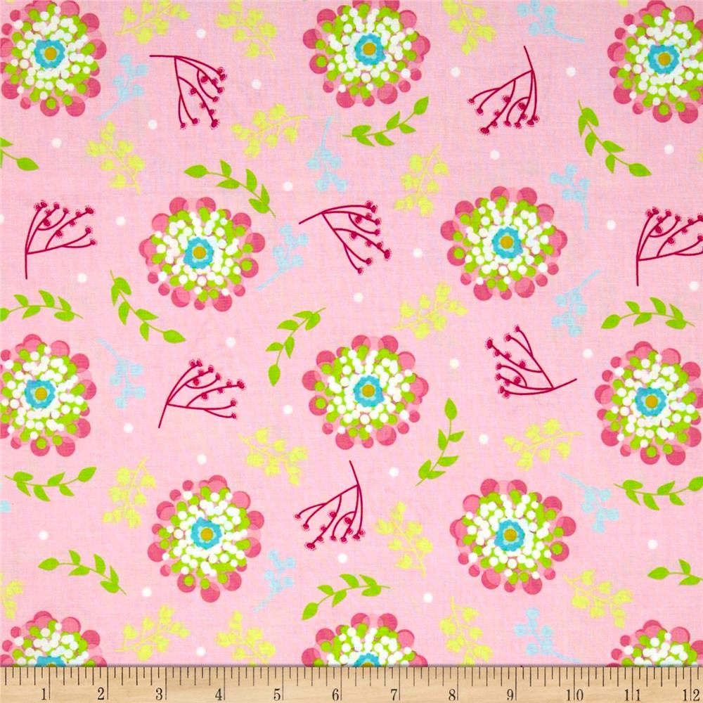 Riley Blake Floriography Floral Pink