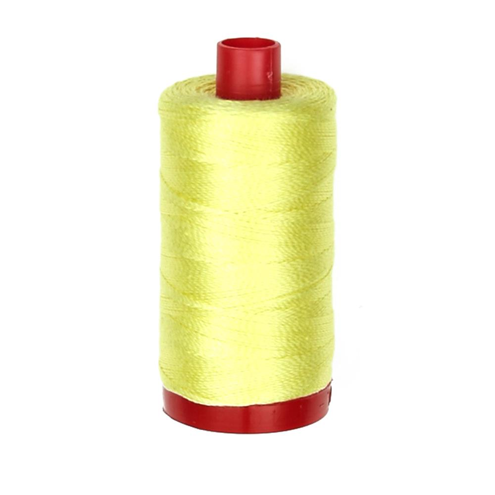 Aurifil 12wt Embellishment and Sashiko Dreams Thread Lemon