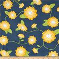 Wallflowers Flowers Blue/Yellow