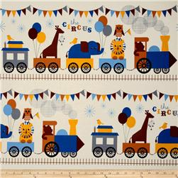 The Circus Train Border Stripe Vintage Ivory