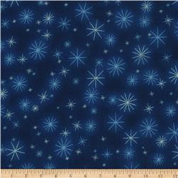 Kaufman Winter Grandeur Metallic Twinkle Evening