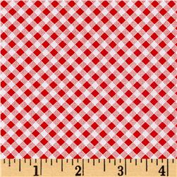 Quilt Camp Bias Check Red