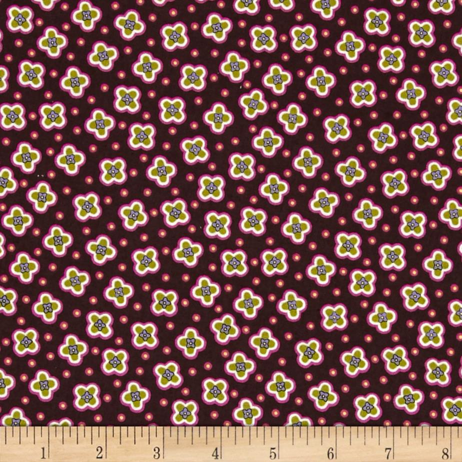 Tulips & Dots Dark Purple/Multi
