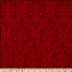 Christmas Tidings Damask Red
