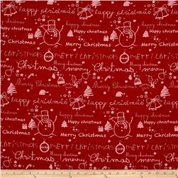 Moda Merry Scriptmas Scriptmas Christmas Red