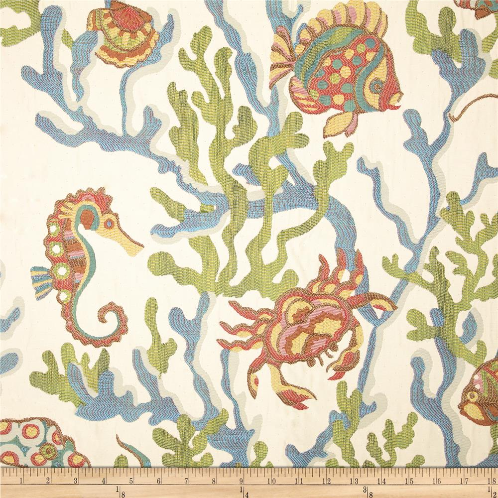 Swavelle/Mill Creek Crab Walk Jacquard Aqua