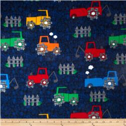 Fleece Prints Tractors Multi