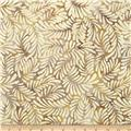 Batavian Batiks Feathers Dark Cream