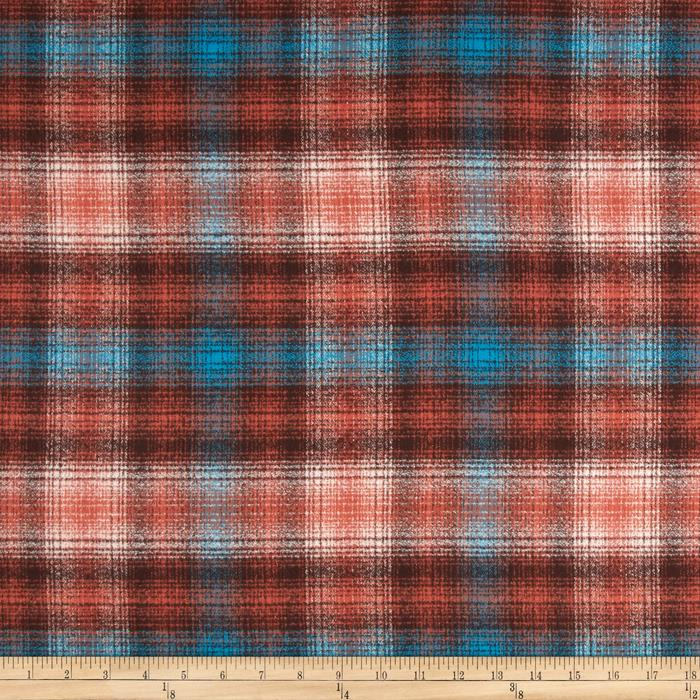 Kaufman Mammoth Flannel Plaid Mahogany