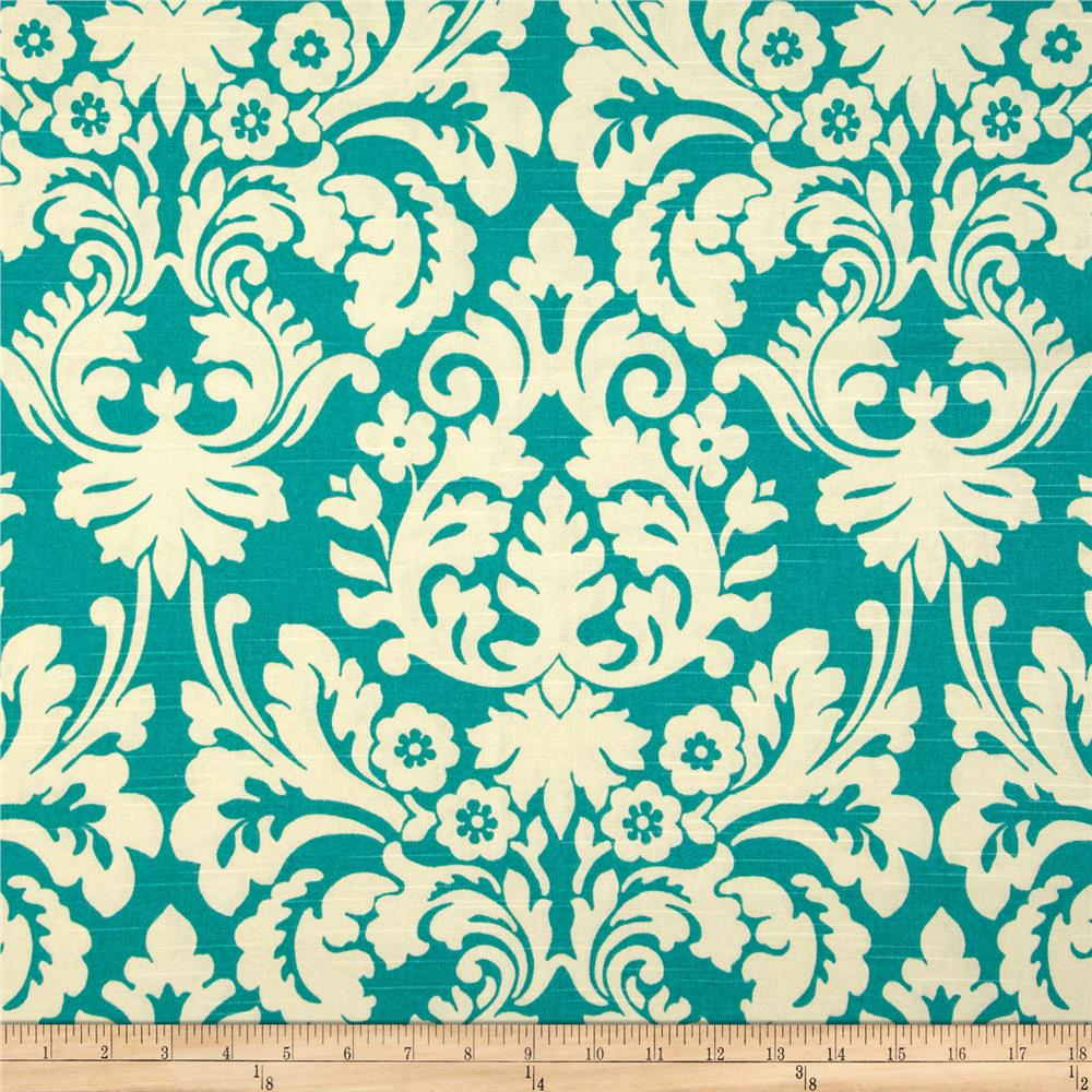 Waverly Close Up Slub Teal