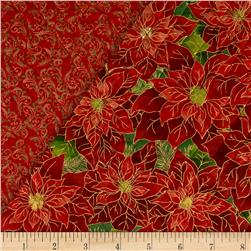 Christmas 2015 Double Sided Quilted Poinsettia Multi